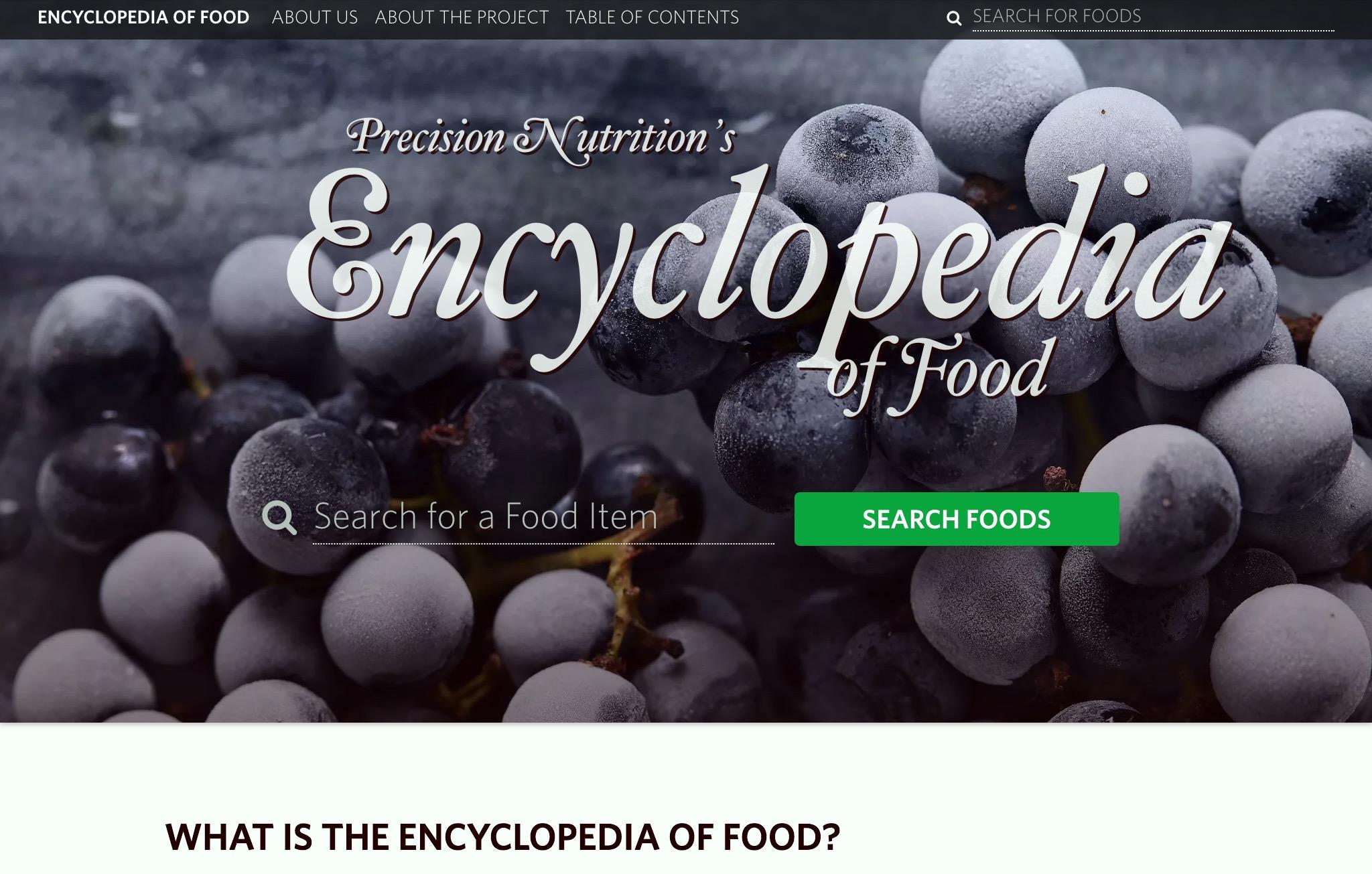 Precision Nutrition Food Encyclopedia