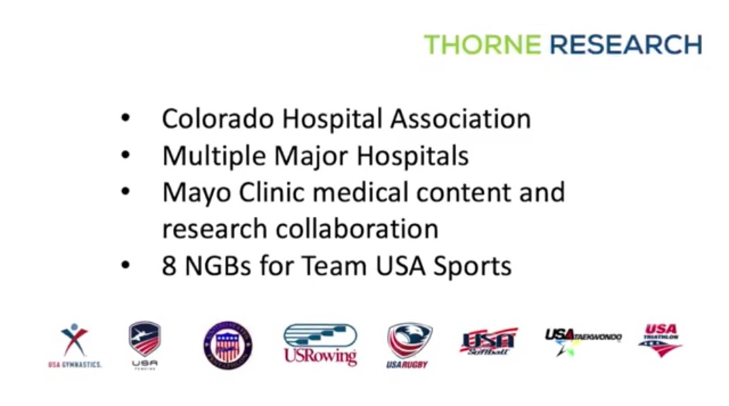 THORNE RESEARCH Trusting Communities